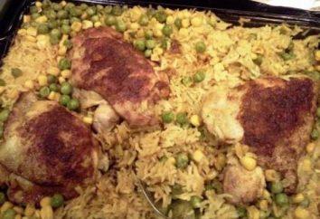 Arroz, pollo al horno en el horno: cuenta con las mejores recetas y cocinar