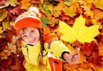Zeichen des Herbstes für Vorschüler. Sprüche über Herbst für Kinder