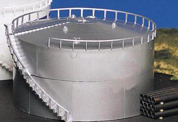 Zbiorniki do przechowywania ropy naftowej i produktów naftowych: klasyfikacja, odmiany, wielkości