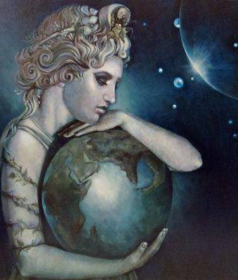 Gaia est la déesse de la terre. Fils de la déesse Gaia