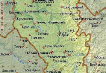 La città di regione di Kemerovo: una breve descrizione