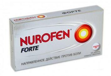 """Oznacza """"Nurofen"""" (tabletki): instrukcje użytkowania"""