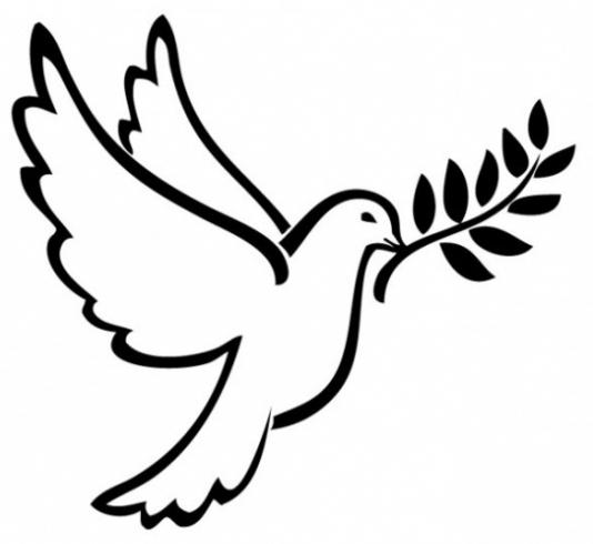 Fabulous symboles de paix. Colombe en tant que symbole de la paix WD69