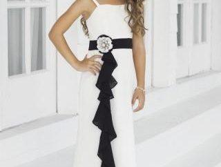 Modna sukienka z szyfonu