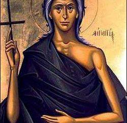 Maria Egiziaca. Icona e una breve storia della vita sulla terra