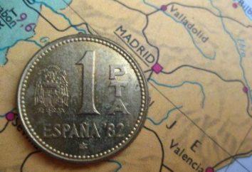 A moeda espanhola do Real Madrid – o euro. moedas Espanha