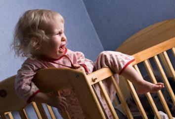L'enfant se réveille la nuit avec l'hystérie: quoi faire?