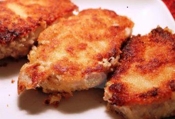 Délicieux côtelettes de porc: cuisiner à la maison