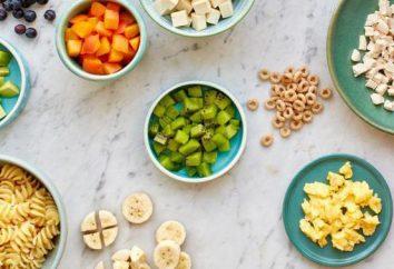 Qu'est-ce qu'un régime alimentaire? Estimée ans menu enfant