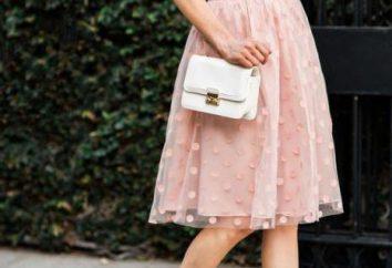 Piękne spódnica groszek: przegląd opcji, ciekawe kombinacje i zalecenia