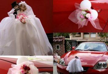Stylowa dekoracja na samochód ślubny: rękami, aby je całkiem możliwe