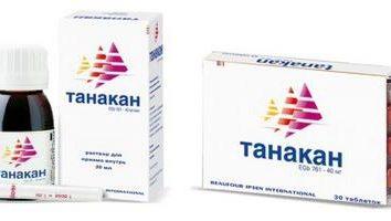 """Instrucciones para remediar """"Tanakan"""". análogos de drogas"""