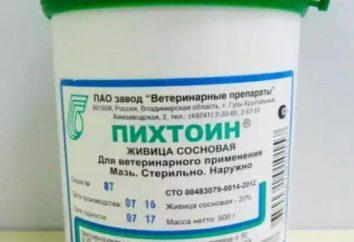 Le médicament « Pihtoin » (pommade) pour les animaux: mode d'emploi