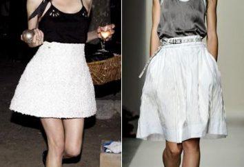 Was mit einem weißen Rock im Sommer zu tragen?