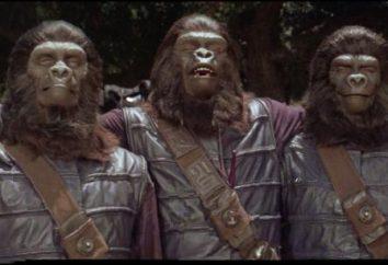"""film epico """"Il pianeta delle scimmie"""". Tutte le parti dell'ordine"""