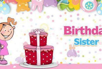 Dotknięcie i nietypowe powitanie siostra starszy urodziny