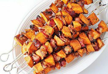 Patate con pancetta su spiedi: ricette semplici