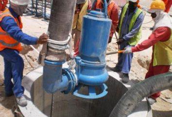 Installazione di pompa fecale per il pompaggio di acque di scarico con le loro mani
