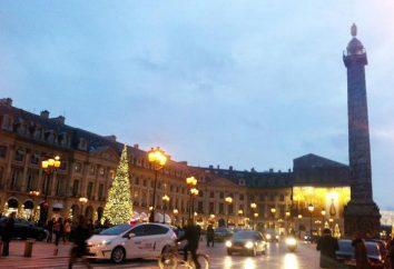 Vendome coluna em Paris. Fotos, descrição