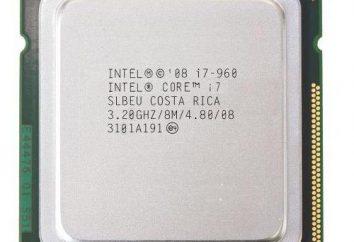 Intel Core i7-960 Procesor: opinie, opisy, specyfikacje i opinie
