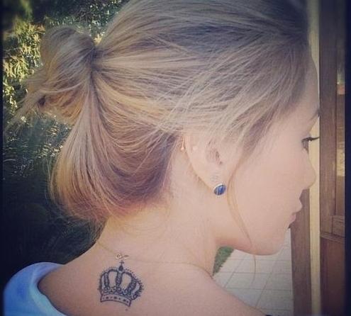 Korona Tatuaż Dla Silna