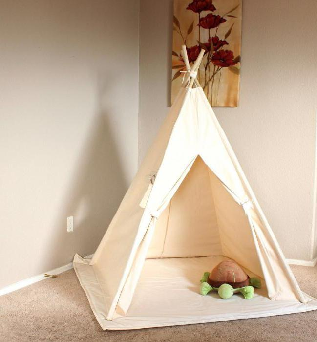 wie ein tipi f r kinder mit ihren eigenen h nden zu machen. Black Bedroom Furniture Sets. Home Design Ideas