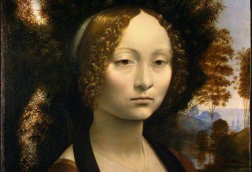 Leonardo da Vinci, z nazwami i opisami