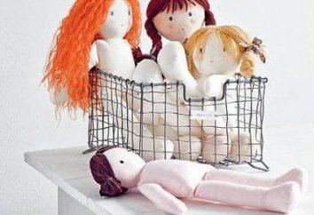 Textile Puppe-Baby: Muster, eine Beschreibung des Prozesses der Schaffung