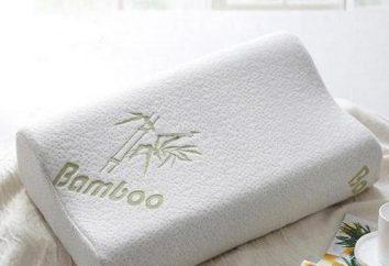 Almohadas hechas de fibra de bambú: opiniones y fotos