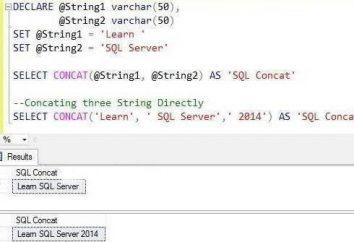 Co sprawia, że funkcja SQL CONCAT?