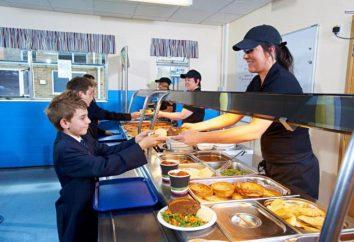 La nutrición en las escuelas. El comedor escolar. Ejemplo de menú