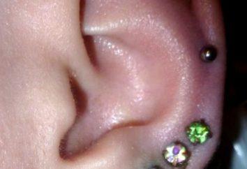 Wie zu Hause die Ohren zu durchbohren