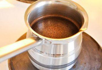 Szczegóły dotyczące sposobu parzenia kawy w czerpak i pot (Turk)