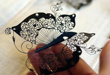 Papillons de papier ondulé: élégamment décorées avec leurs propres mains