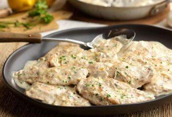 Receitas de filé de frango com creme azedo