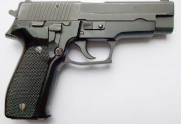 Kleinwaffen sind vorhanden: eine automatische Pistole SIG-Sauer P226