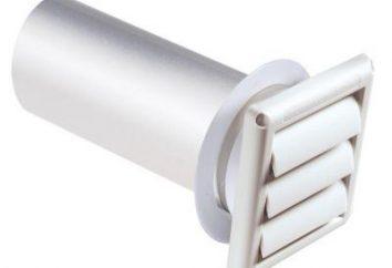 plastique de ventilation. Tubes et grilles de ventilation