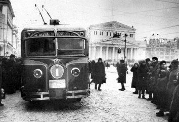 Moskwa trolejbusy Historia trasy