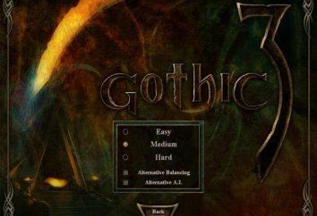 """""""Gothic 3"""" – uma alternativa balanço. O que é eo que é comido?"""