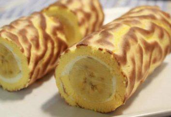 Cómo cocinar un rollo con un plátano: las mejores recetas