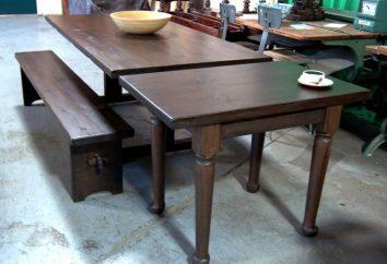 Le mécanisme de la table coulissante: l'utilisation dans la fabrication de meubles