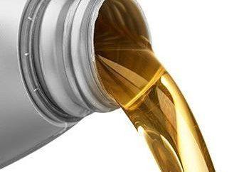 Öl für 2-Takt-Außenbordmotor. Marke Motoren und eine Auswahl von Öl