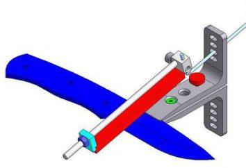 máquina caseira para afiar facas com as mãos: o esquema, a instrução, especialmente de fabricação