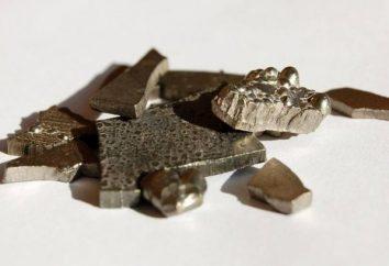 proprietà del metallo di elementi chimici