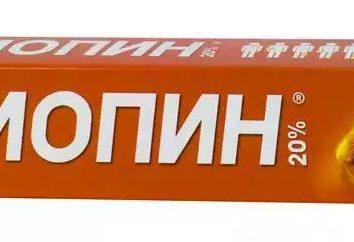 """Pomada """"biopin"""": instruções de utilização. """"Biopin"""": Descrição da droga, indicações"""