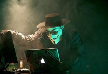 Anonymous (hackers) de programa, quebrar-ins e comentários. grupo hackers Anonymous