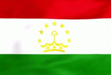 Bandera de Tayikistán. Escudo de armas y la bandera de Tayikistán