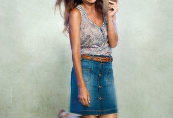 Co nosić z spódnicą denim wyglądać stylowo?