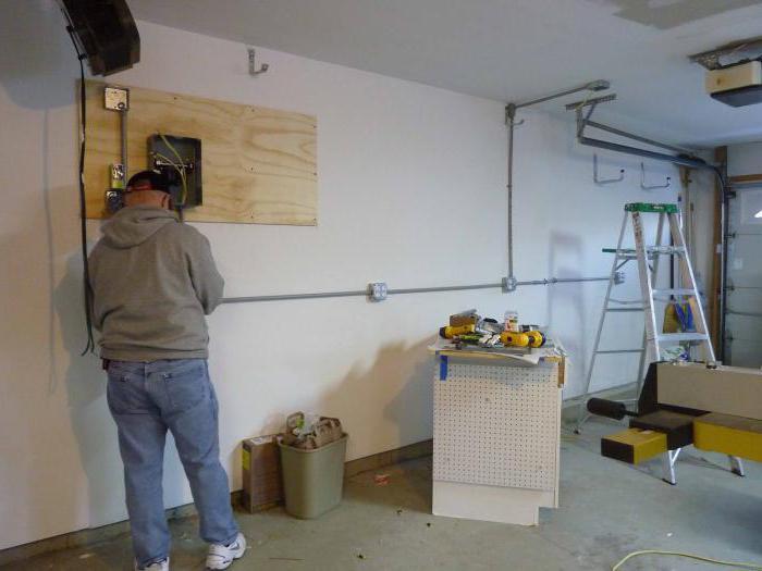 Verdrahtung in der Garage: die Installation von ihren eigenen Händen