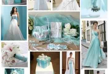Exquisite wesele w stylu Tiffany: zalecenia dotyczące projektowania